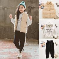 女童冬装卫衣套装大儿童装时尚秋装洋气时髦三件套潮