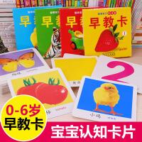 全4盒聪明宝贝早教卡 0-2-3-4-5-6岁婴幼儿识字玩具双语早教撕不烂卡闪卡 幼小衔接幼儿绘本 儿童启蒙认知卡片