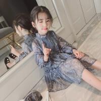 2018秋季新款韩版时尚儿童公主裙洋气女孩裙子童装女童秋装连衣裙