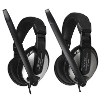 声籁 电音DT2699电竞游戏耳机电脑头戴式双孔带话筒畅销热卖