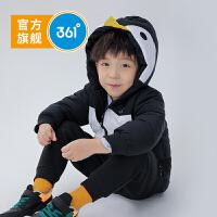 【开学季到手价:151.6】361度童装 男小童企鹅棉衣外套2019冬季新品儿童连帽卡通保暖N51944802