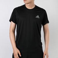 幸运叶子 Adidas/阿迪达斯短袖男春季新款运动服休闲上衣宽松舒适透气圆领印花半袖T恤FS9799