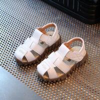 2018夏季新款儿童凉鞋软底包头宝宝鞋牛筋底防滑男童凉拖鞋沙滩鞋