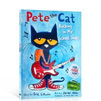 酷的猫咪皮特猫系列 皮特猫 Pete the Cat: Rocking in My School Shoes穿着校鞋玩摇滚 Eric Litwin艾瑞克・利特温 趣味英文原版绘本 平装大开本 送音频