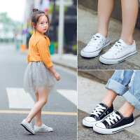 儿童帆布鞋亲子母子球鞋白色宝宝