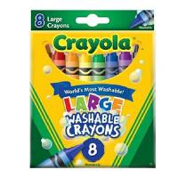 绘儿乐进口可水洗大蜡笔安全无毒儿童蜡笔8色16色