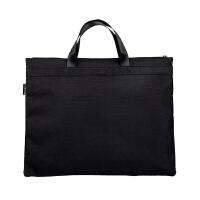 广博(GuangBo)帆布手提资料袋/文件袋/公文包/办公收纳用品 黑色A6095-2当当自营