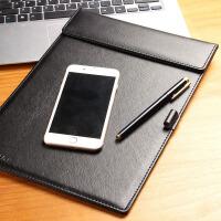 商务皮质文件夹A4夹资料合同销售谈判签约夹写字板夹垫 纸板