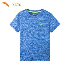 安踏童装 男童短袖2018夏季新款上衣跑步短袖运动T恤圆领35725146