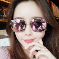 墨镜女潮偏光圆脸沙滩太阳镜时尚明星同款网红眼镜长脸