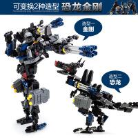 古迪 新乐新益智拼插积木 变形人-恐龙机器人儿童早教玩具