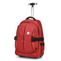 拉杆书包学生 双肩拉杆箱包女包书包旅行包男商务大容量休闲行李包电脑包密码箱登机
