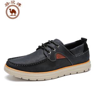 骆驼牌男鞋 春季新款 日常休闲皮鞋男士韩版系带舒适男鞋子