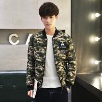 冬季迷彩棉衣男韩版短款加厚学生潮流迷彩棉服男外套青少年棉袄男