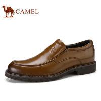 camel 骆驼男鞋 秋冬新品商务正装套脚真皮低帮鞋男士皮鞋子