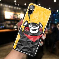 苹果X手机壳iPhone XSMAX菱形钻石纹8plus可爱熊7plus卡通情侣款XR网红女款6pl
