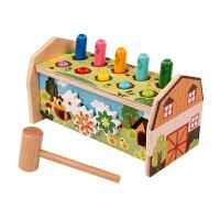 木质10孔打地鼠玩具婴幼儿童益智力宝宝敲打