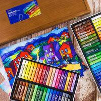 韩国MUNGYO盟友画笔36色小学生蜡笔48色儿童幼儿园彩色油画棒套装