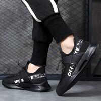 ()男鞋休闲鞋男板鞋子男户外运动韩版百搭潮流透气网鞋飞织1901