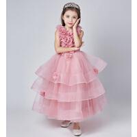 儿童礼服花童蓬蓬裙 新款时尚礼服女童婚纱 宝宝公主裙钢琴演出服