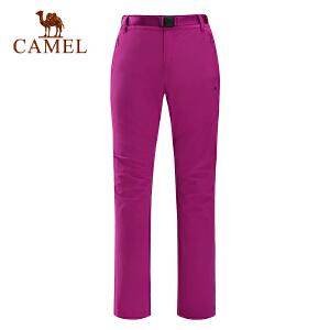 camel骆驼户外女款速干长裤 春夏耐磨快干登山徒步长裤女