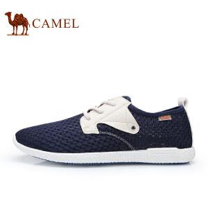 骆驼牌男鞋 新品系带网面鞋透气轻盈休闲鞋镂空低帮男鞋