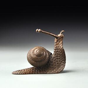 紫铜茶宠小蜗牛