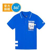 【下单立减】361度童装 男童POLO衫上衣2019夏季新品短袖功夫熊猫IP款