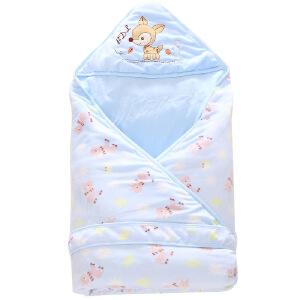 秋冬婴儿抱被新款水晶绒抱被外出两用宝宝抱被