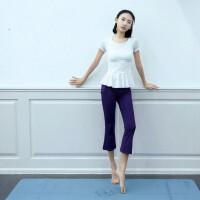 瑜伽服套装女短袖显瘦跑步服运动裤女健身房速干衣显瘦优雅