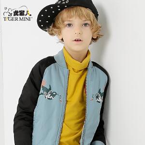 小虎宝儿童装儿童棉袄男童短款棉衣外套中大童2017新款 韩版 冬季