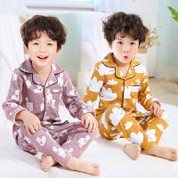 儿童睡衣长袖小孩子男孩中大童宝宝家居服套装