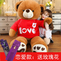 抱抱熊 公仔泰迪熊猫毛绒玩具 女生布洋娃娃大熊特大号抱着睡觉玩偶 【恋爱款】
