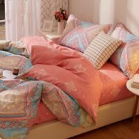 四件套全棉纯棉欧式磨毛加厚被套床单床上用品被子床品 四件套 适用1.8-2m床 建议搭配220*240