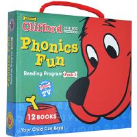 【大红狗1附CD】Cliffords Phonics Fun Pack 1 12册大红狗克里弗系列 Phonics Fun自然拼读 英文原版绘本