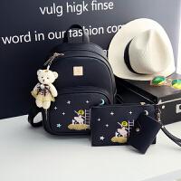 儿童包包韩版女孩中大童可爱PU皮双肩背包潮女童休闲旅行旅游背包