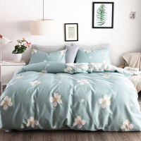 纯棉四件套被子被套全棉宿舍床上用品网红款床单三件套 1.8m(6英尺) 床 适合200*230被子【床