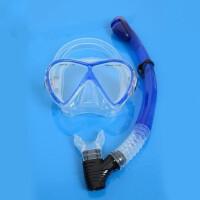 硅胶专业深潜浮潜大视野潜水面镜游泳潜水镜+呼吸管 支持礼品卡支付