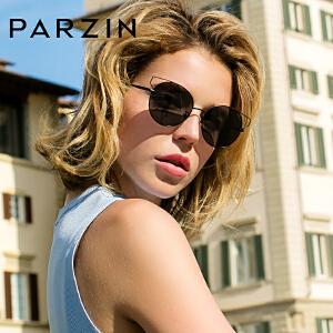 帕森偏光太阳镜 女士金属圆框时尚猫眼潮墨镜司机驾驶镜 8157