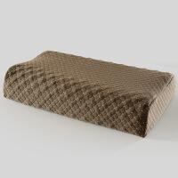 乳胶枕 枕头 泰国乳胶 颈椎枕头 狼牙枕 -灰