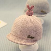 宝宝帽子秋女孩6-12个月鸭舌帽婴儿棒球帽男童秋冬