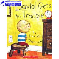 大卫惹麻烦 英文原版绘本 David Gets in Trouble 大卫不可以系列 大卫惹的祸 吴敏兰绘本图画书