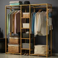 淘之良品简易衣柜木质多层布衣柜组装衣橱现代简约收纳置物架楠竹布衣橱实木组合衣服柜子