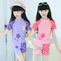新款韩版星星款女童儿童泳衣 3-11岁女孩泳装 男童宝宝幼儿分体泳裤游泳衣