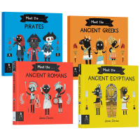 Meet the Ancient Greeks Pirates 儿童历史科普4册 遇见古罗马 古埃及 古希腊人 海盗 英