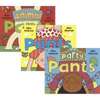 Pants Party Pants Animal Pants 裤衩话题3册 幼儿性教育启蒙 儿童英语读物 行为习惯养成绘