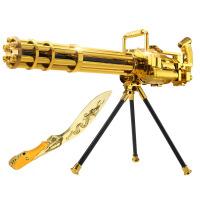 宜佳达 玩具枪 可发射水晶弹子弹 连发软弹 电动狙击枪玩具 加特林土豪金308