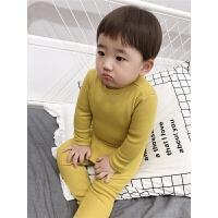男宝宝内衣套装小童家居服高腰护肚睡衣秋衣秋裤