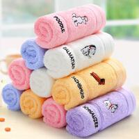 (领券立减50)洁丽雅4条混装纯棉卡通毛巾吸水儿童清新毛巾特卖