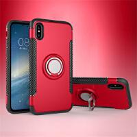 BaaN 苹果X手机壳创意支架指环车载防摔多功能保护套 中国红